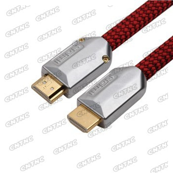 HDMI cable male to male  Full 1080P support metal shell with nylon braid