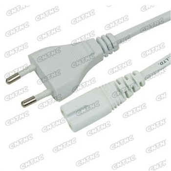 Power cable with plug